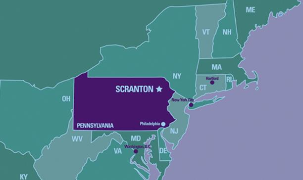 Campus Map Visit Us The University Of Scranton - Pa us map